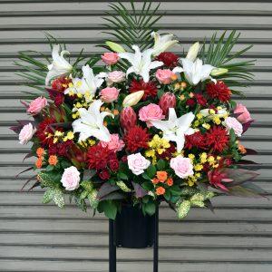 大田区 大森 山王 花屋 開店祝 スタンド花