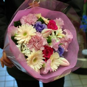 大森 花屋 年度末の送別の花束