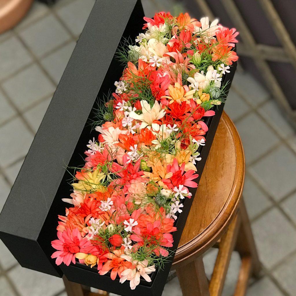 東京都大田区山王 大森の花屋 大花園(だいかえん)季節の旬な花をあなただけの贈り物に!上質でモダンな花贈りを大森スタイルでお届けします。ボックスアレンジ